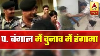 Former IPS officer and BJP's Ghatal candidate Bharati Ghosh's vehic...