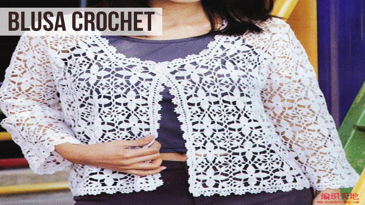 Blusa de Mujer Tejida a Crochet - Diseños - YouTube