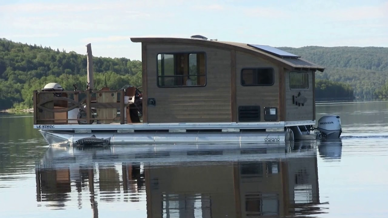 Forget that Tiny House and Get a Tiny Houseboat Instead