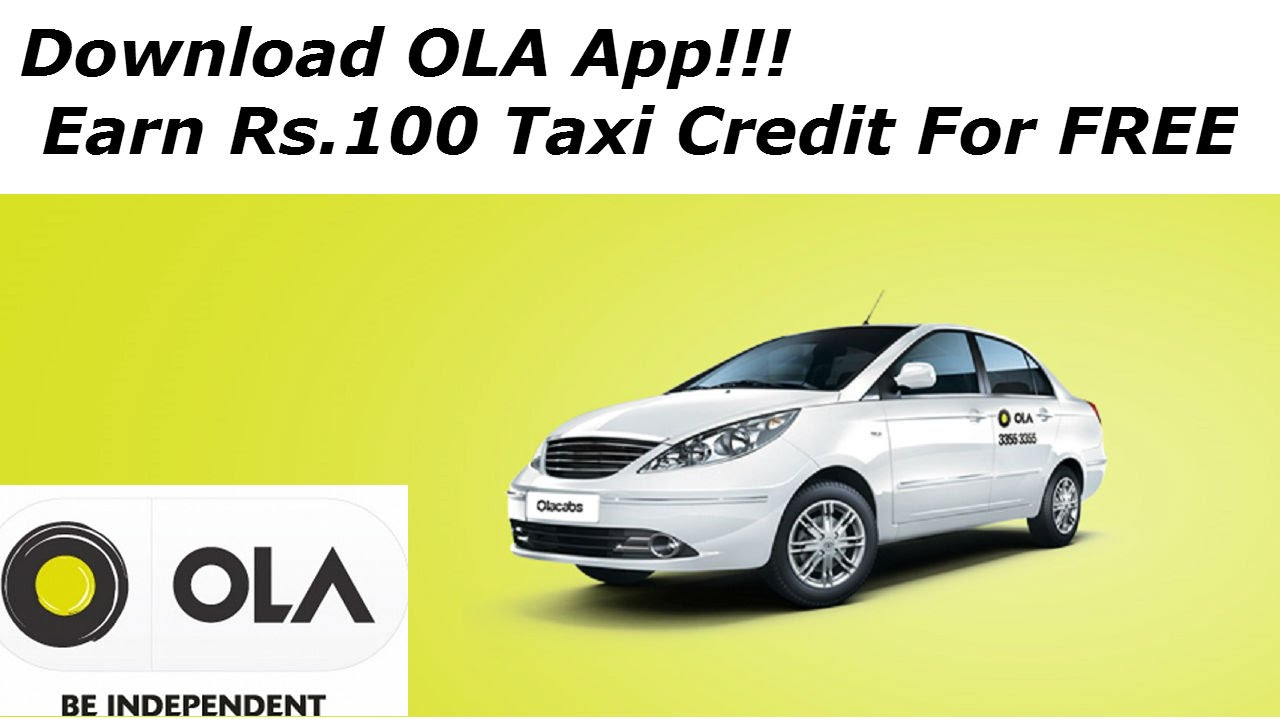 How to Earn Rs.100 Taxi Credit For FREE from OLA cabs? - YouTube