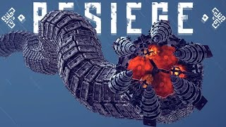 Besiege Best Creations - GIANT MECHANICAL WORM, Working Clock, Bird-Like Plane