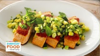 Salmon With Spicy Cucumber-pineapple Salsa - Everyday Food With Sarah Carey