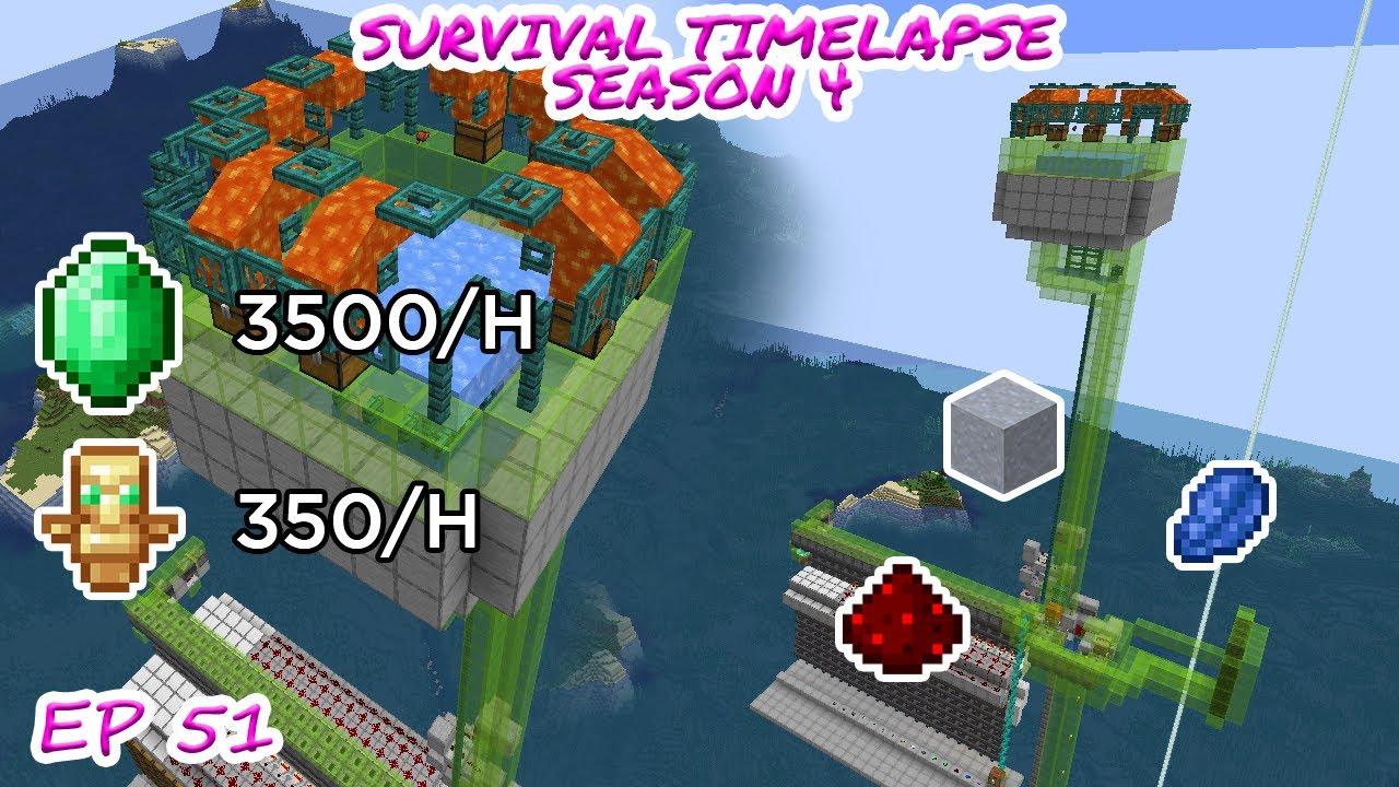 New Efficient Raid Farm Minecraft Survival Timelapse Season 4 Episode 51