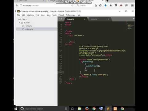 How to load php file and autorefresh page or div in jquery