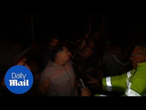 Mexico border residents clash with migrant arrivals