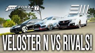 Forza 7 2019 Hyundai VELOSTER N vs Honda CIVIC TYPE R vs VW GOLF R HOT HATCH CHALLENGE