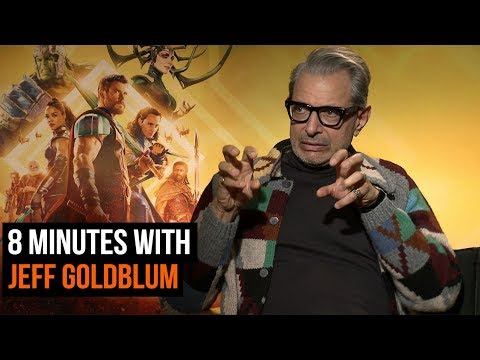 Jeff Goldblum sings his own Jurassic Park theme in our Thor: Ragnarok interview
