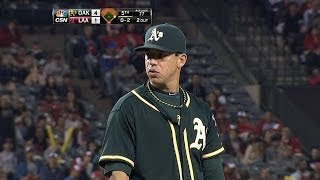 Milone throws six innings of two-run ball