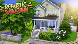 Bright Suburban 🌻 // The Sims 4 Family Home Speed Build | no cc