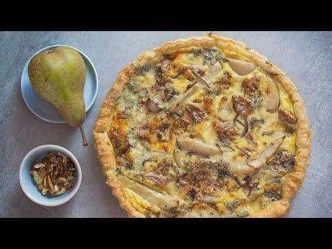 recette-de-tarte-aux-poires,-noix-et-bleu-d'auvergne-₪-pankaj-sharma
