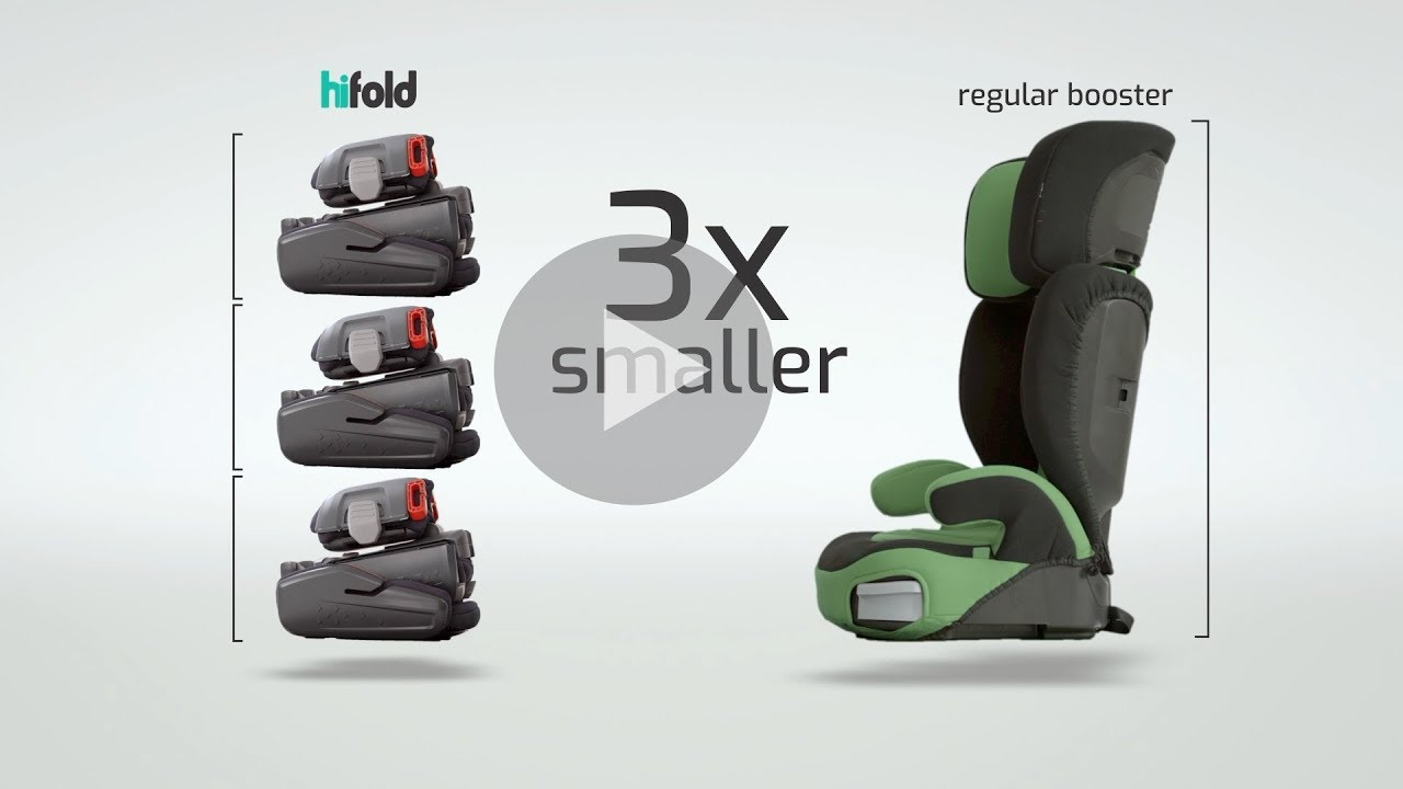 hifold - the fit-and-fold highback booster | Indiegogo