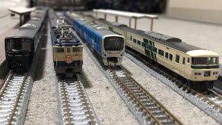 甲種輸送トーマス+西武鉄道ドラえもん50周年記念DORAEMON-GO!38801+38801+上田電鉄7552+7252、KOALA TRAIN コアラ号ヘッドマークEF65 1000形、185系!