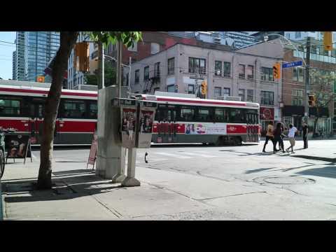 Toronto, corner John St and Queen St