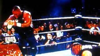 ECW Team 3D Power bomb Guy through a Flaming table