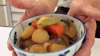 """How To Make """"nikujaga"""" Japanese Regular Diet (english Subtitle)"""