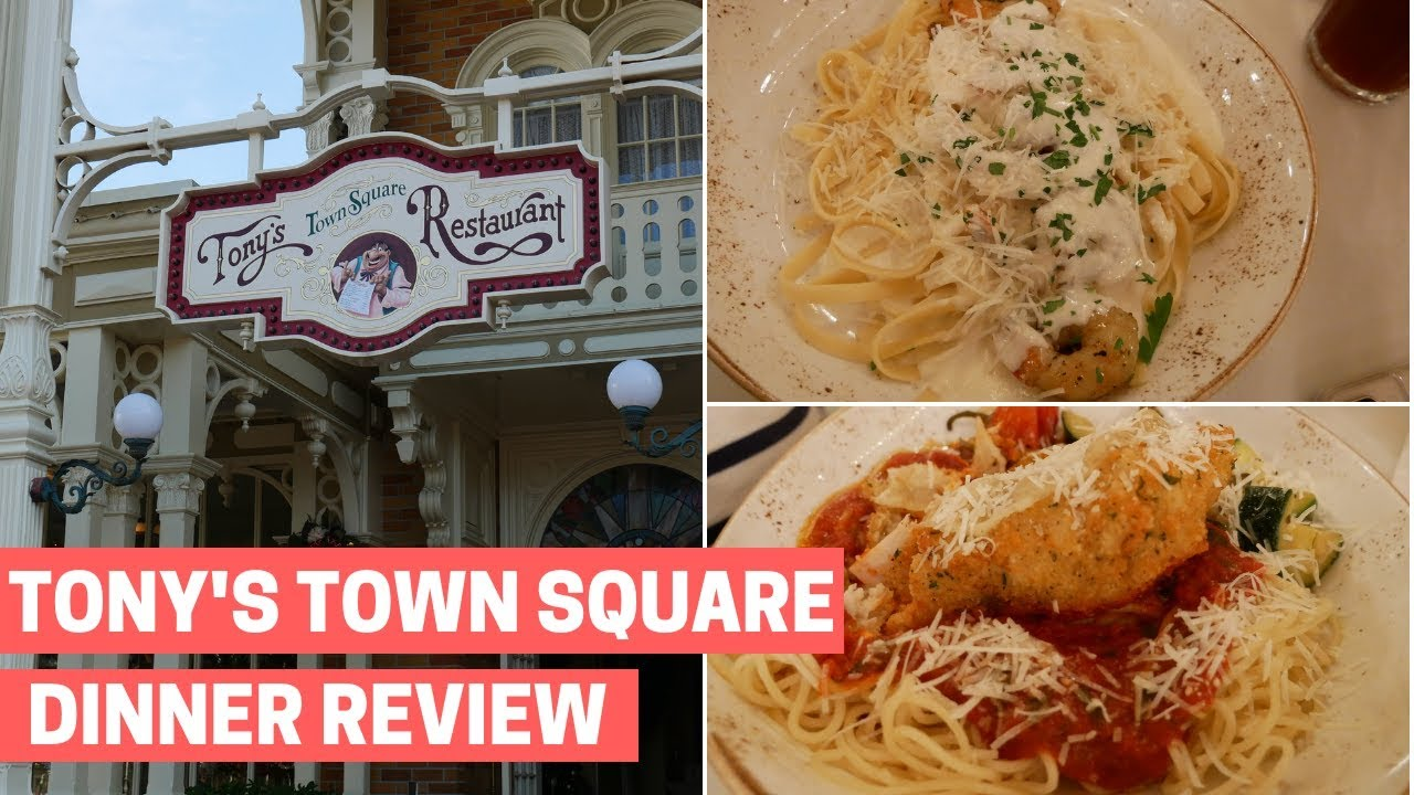 Tony S Town Square Dinner At Magic Kingdom Disney World Restaurant Review Youtube