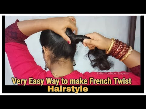 Very Easy Way to make French Roll/French Twist/French Bun Hairstyles for Short,medium and Long Hair thumbnail