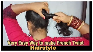 Very Easy Way to make French Roll/French Twist/French Bun Hairstyles for Short,medium and Long Hair