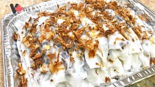 Cách Làm Bánh Ướt / Bánh Cuốn Nhân Thịt Dai Mềm Mỏng Cực Kỳ Ngon ! Steam Rice Cake VietCan Recipes