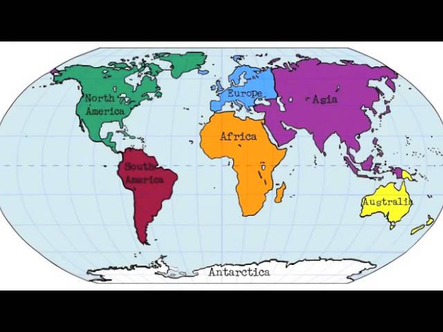 Map Skills Continents, Oceans, The Equator, And The United ...