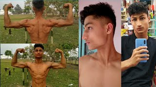 HairCut Gone Funny 🤐    BACK WORKOUT    MUSCLE FLEX    SURYAKANT SINGH