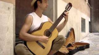 German classical guitar master on Mallorca's streets