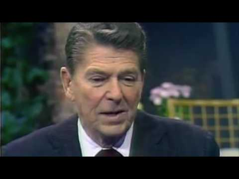 1980: Republican Presidential Nominee Ronald Reagan interview with John Willis