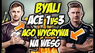BYALI ACE CLUTCH 1vs3!! AGO WYGRYWA NA WESG, SZPERO ON FIRE - CSGO BEST MOMENTS