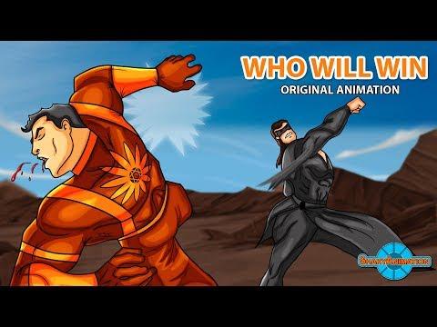 Krrish Vs Shaktimaan Fight [ Who Will Win ] | Original Animation