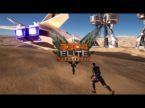 3304 Elite Dangerous - Walking Around on Atmospheric World Demo, Titan