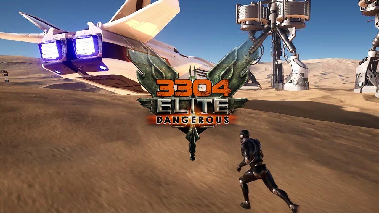 3304 Elite Dangerous - Walking Around on Atmospheric World Demo, Titan's  Daughter Repaired