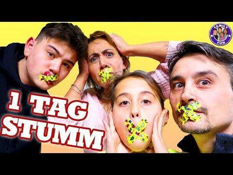1 TAG KEIN WORT reden 🙊 - Stumm Challenge - Family Fun