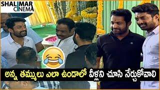 NTR and Kalyan Ram Funny Moments At Kalyan Ram New Movie Launch || Niveda Thomas,Shalini Pandey