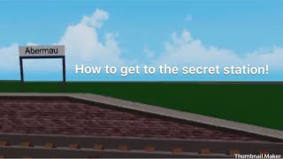 Roblox GCR | How To Get To Secret Station Abermau!