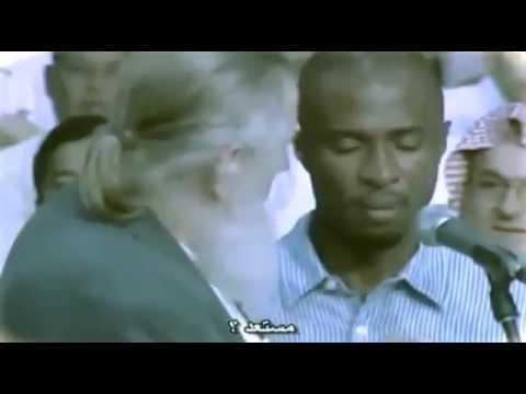 شاب مسيحي يسأل شيخ مسلم سؤال واحد ودخل بالاسلام A man asks one question and then accepts islam