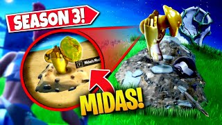 *NEW* SECRET MIDAS MUSHROOM *EASTER EGG* FOUND IN FORTNITE SEASON 3! (Battle Royale)