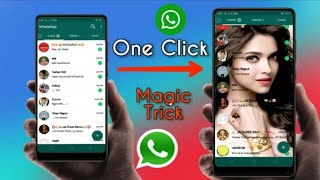 Change Whatsapp Home Screen Background - Use Own Photo 2019 new trick