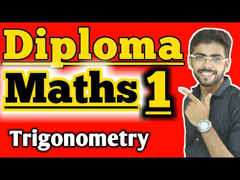 diploma 1st year maths trigonometry | diploma maths 1 in hindi  | diploma maths 1 trigonometry