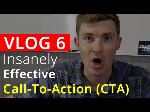 Insanely Effective Call-To-Action Formula (CTA) For Video Marketing - VLOG 6