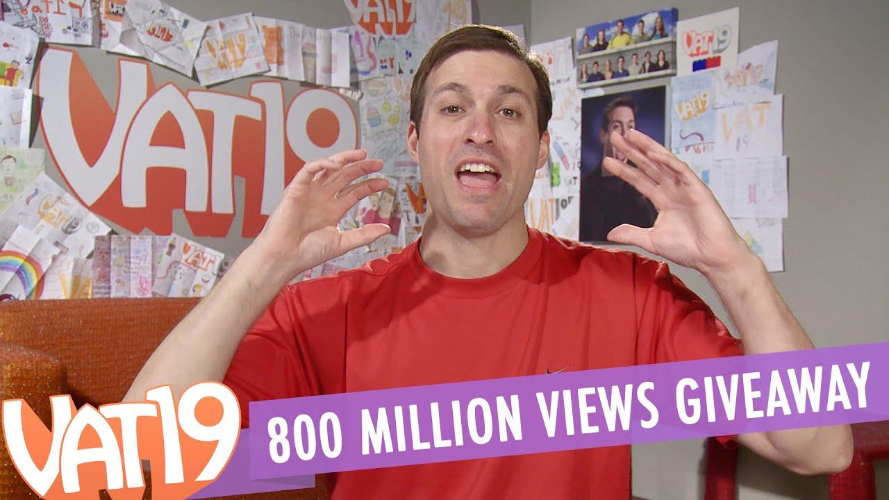 Giveaway at 800 million views!