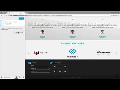 Wordpress Ocean Wp Website Footer Design