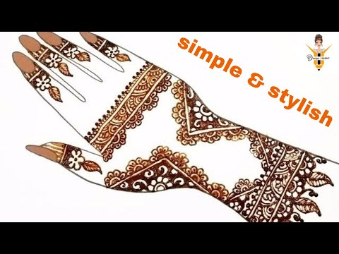 new stylish Simple Arabic Mehndi Designs For Hands Step by Step by design4hobby thumbnail