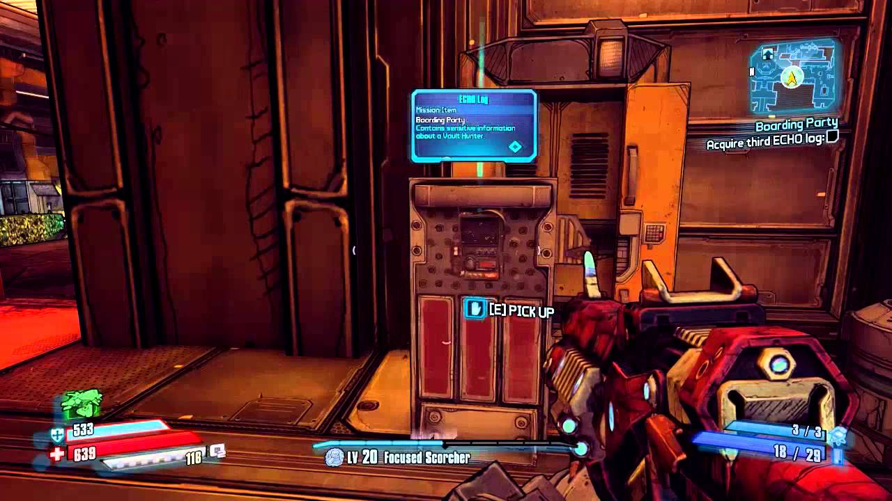 Find the ECHO Logs Location in Boarding Party in Borderlands: The Pre-Sequel  - YouTube