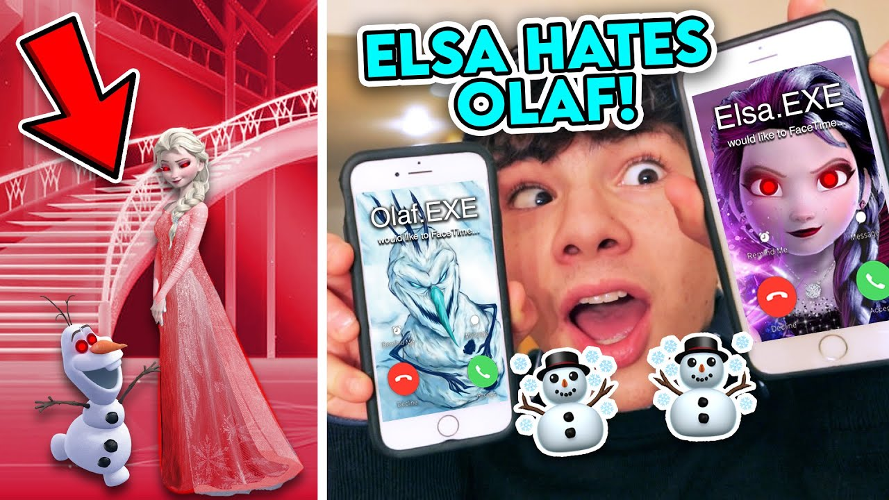 FACETIMING OLAF.EXE AND ELSA.EXE AT THE SAME TIME!! *ELSA HATES OLAF*