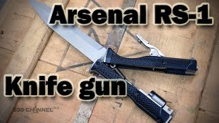 Arsenal RS-1 Knife/gun (first shots)