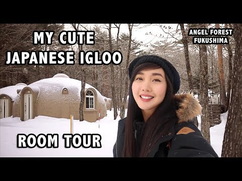 MY FIRST WINTER IN A JAPANESE IGLOO (ROOM TOUR)