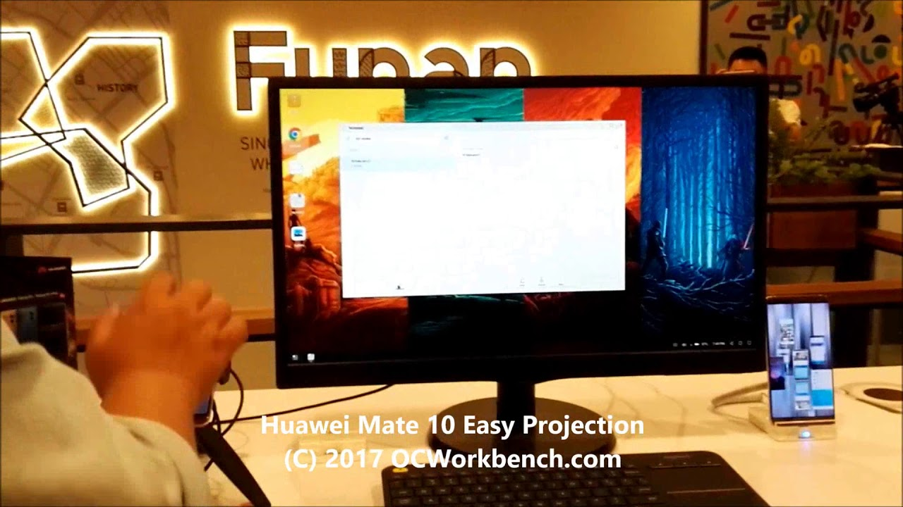 #Huawei #Mate10 Easy Project, connects mobile to large screen tv