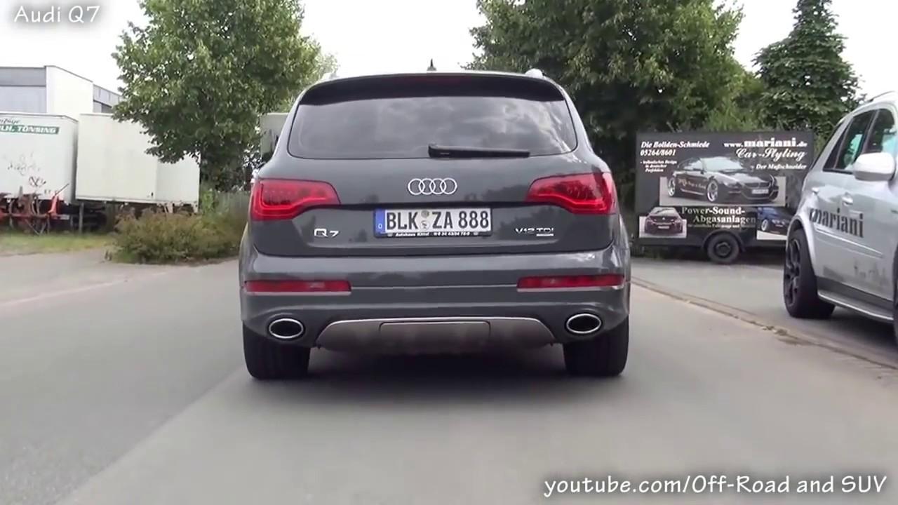 Touareg 6 0L W12 vs Audi Q7 6 0TDI petrol vs diesel  YouTube