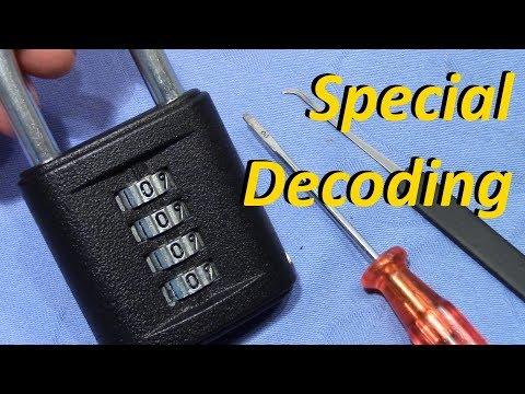(picking 378) The Secret Of Decoding The TOKOZ 4 Wheel Combination Padlock [ Easy & Reliable ]