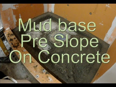 How to install a shower pre slope or pre pitch on concrete